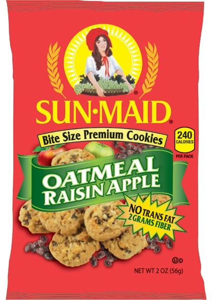 Snack Items :: Oatmeal Raisin Apple Cookies